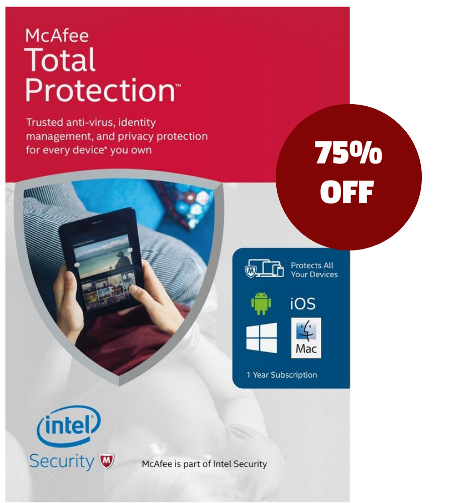 mcafee total security 75 off